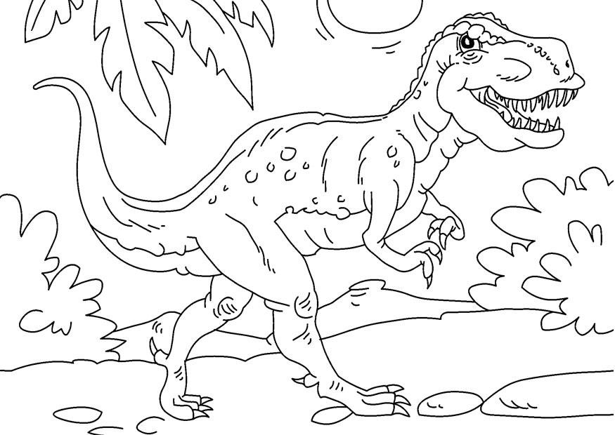Tyrannosaurus Rex Ausmalbilder  Malvorlage Dinosaurier Tyrannosaurus Rex
