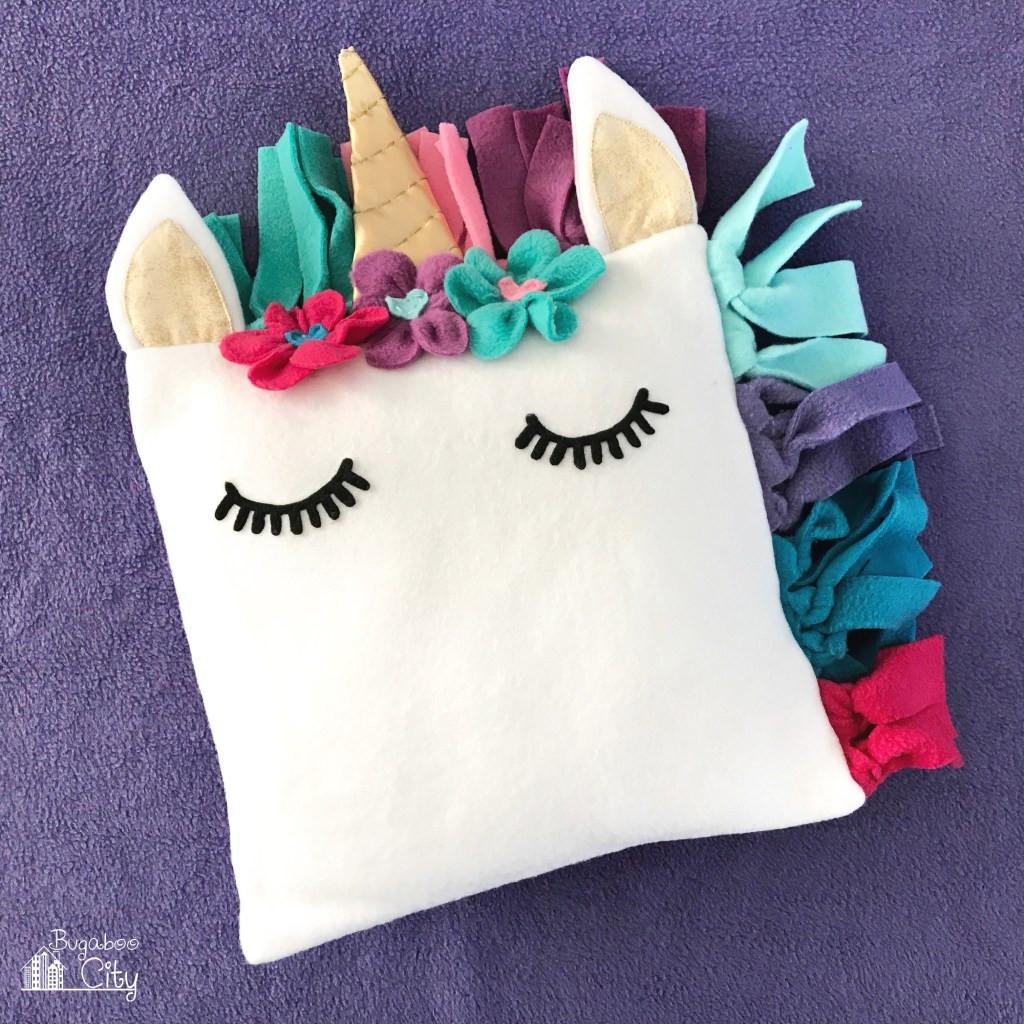 Unicorn Diy  DIY Fleece Unicorn Pillow with Free Pattern BugabooCity