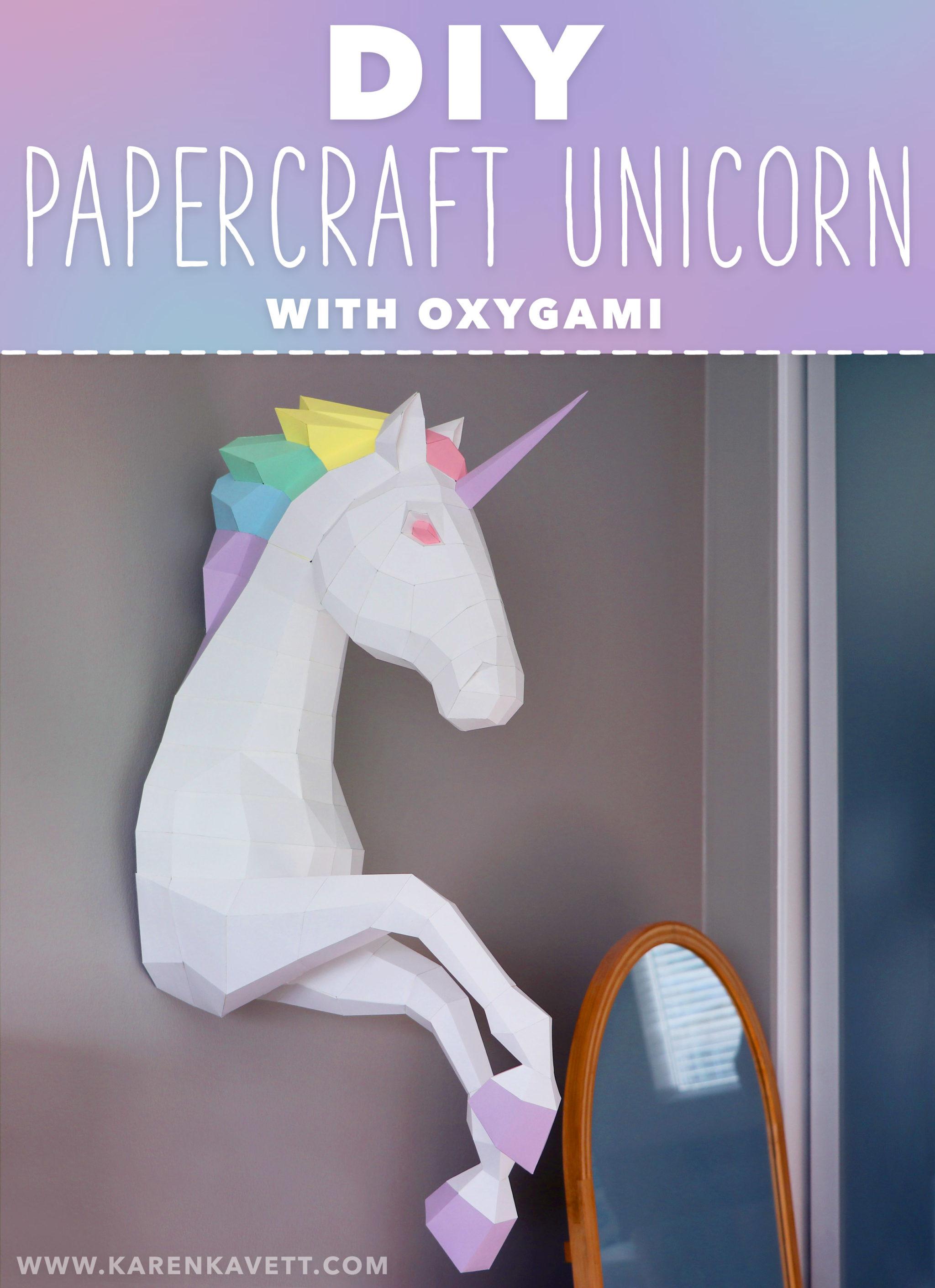 Unicorn Diy  DIY Papercraft Unicorn with Oxygami Karen Kavett