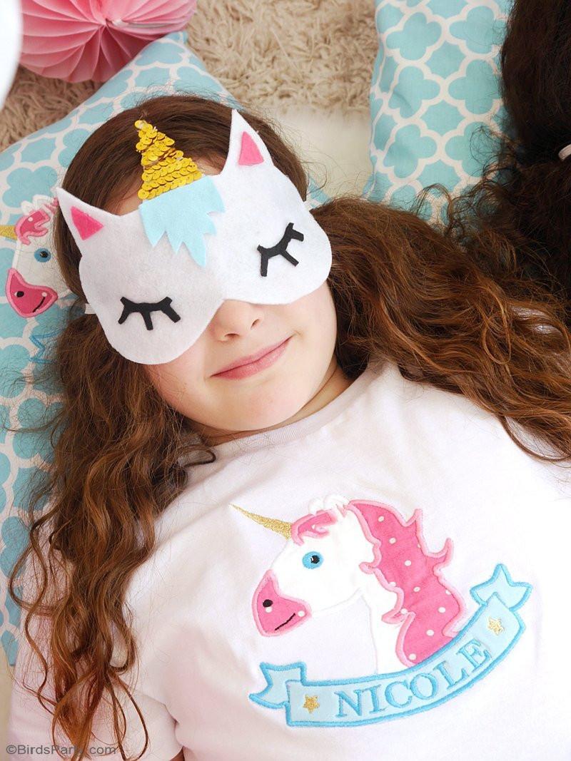 Unicorn Diy  No Sew DIY Unicorn Sleeping Masks with Free Template