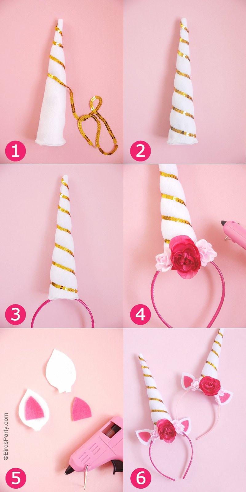 Unicorn Diy  DIY Unicorn Party Headbands Party Ideas