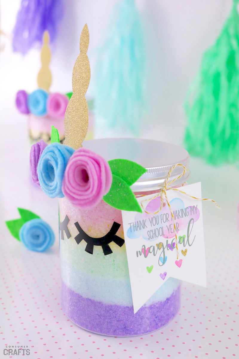 Unicorn Diy  DIY Unicorn Themed Bath Salts Consumer Crafts
