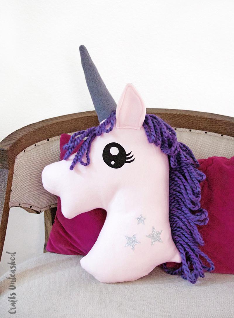 Unicorn Diy  Unicorn DIY Pillow Step by Step Consumer Crafts