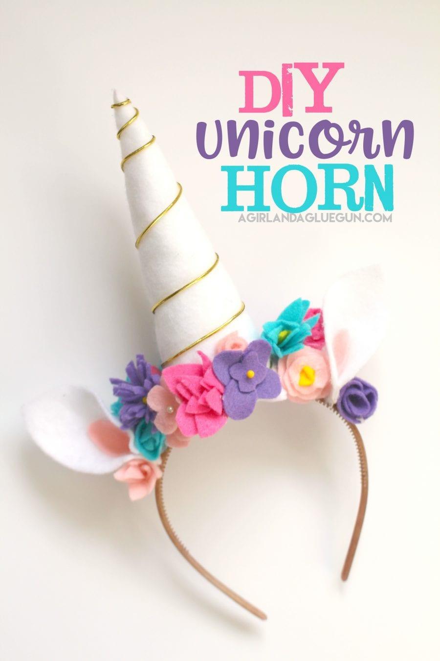 Unicorn Diy  Unicorn costume DIY A girl and a glue gun