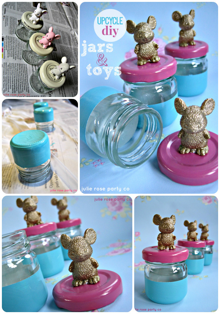 Upcycling Diy  Upcycle DIY jars and plastic toy animals
