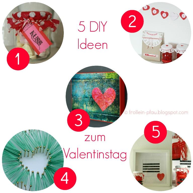 Valentinstag Diy  Frollein Pfau DIY Ideen zum Valentinstag Crea nstag