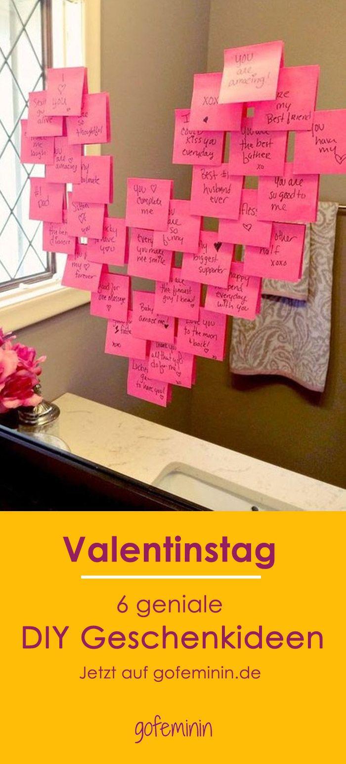 Valentinstag Geschenk Diy  Die besten 25 Valentinstag basteln Ideen auf Pinterest