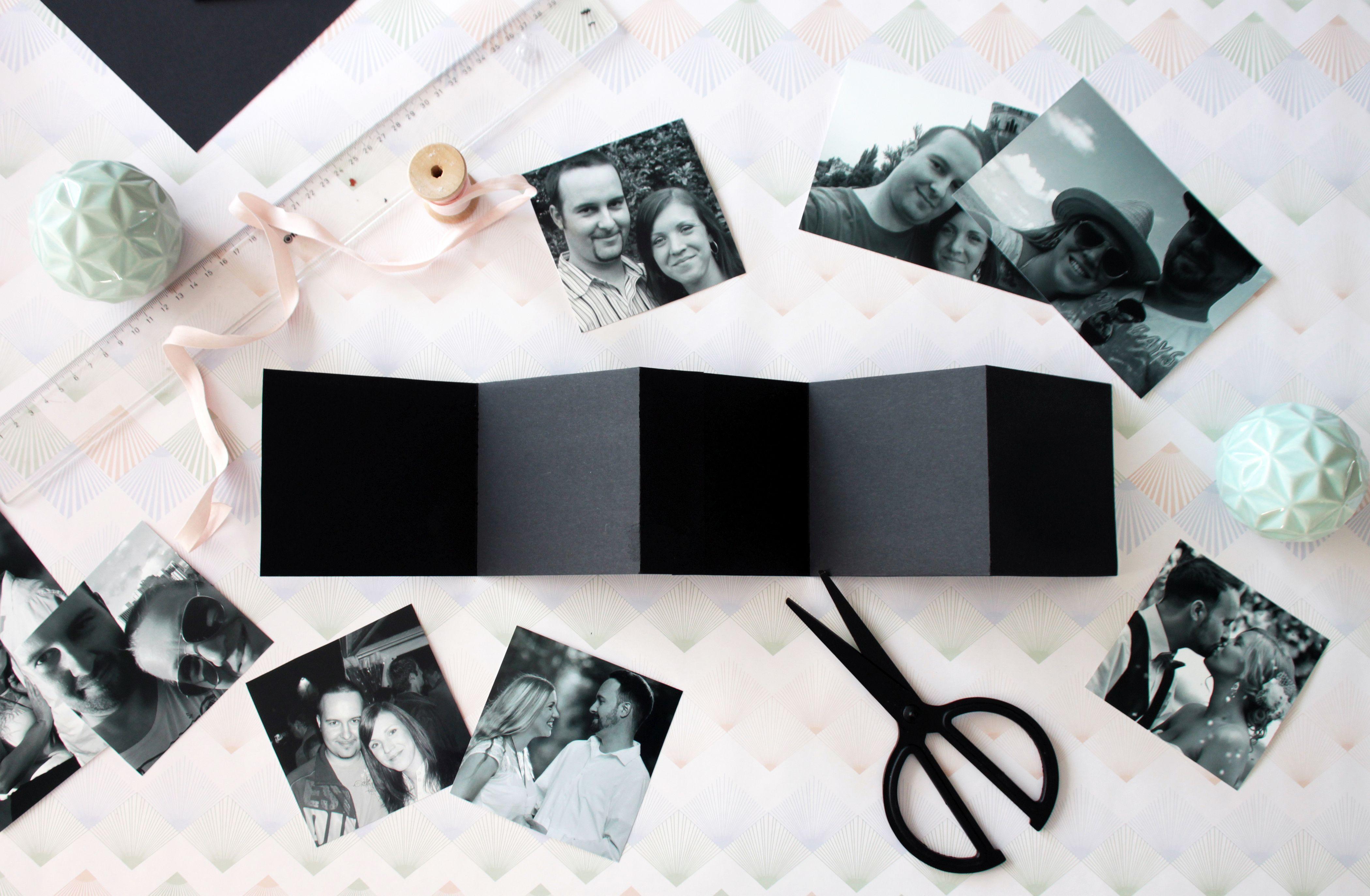 Valentinstag Geschenk Diy  DIY Geschenk zum Valentinstag Fotobuch und Leporello