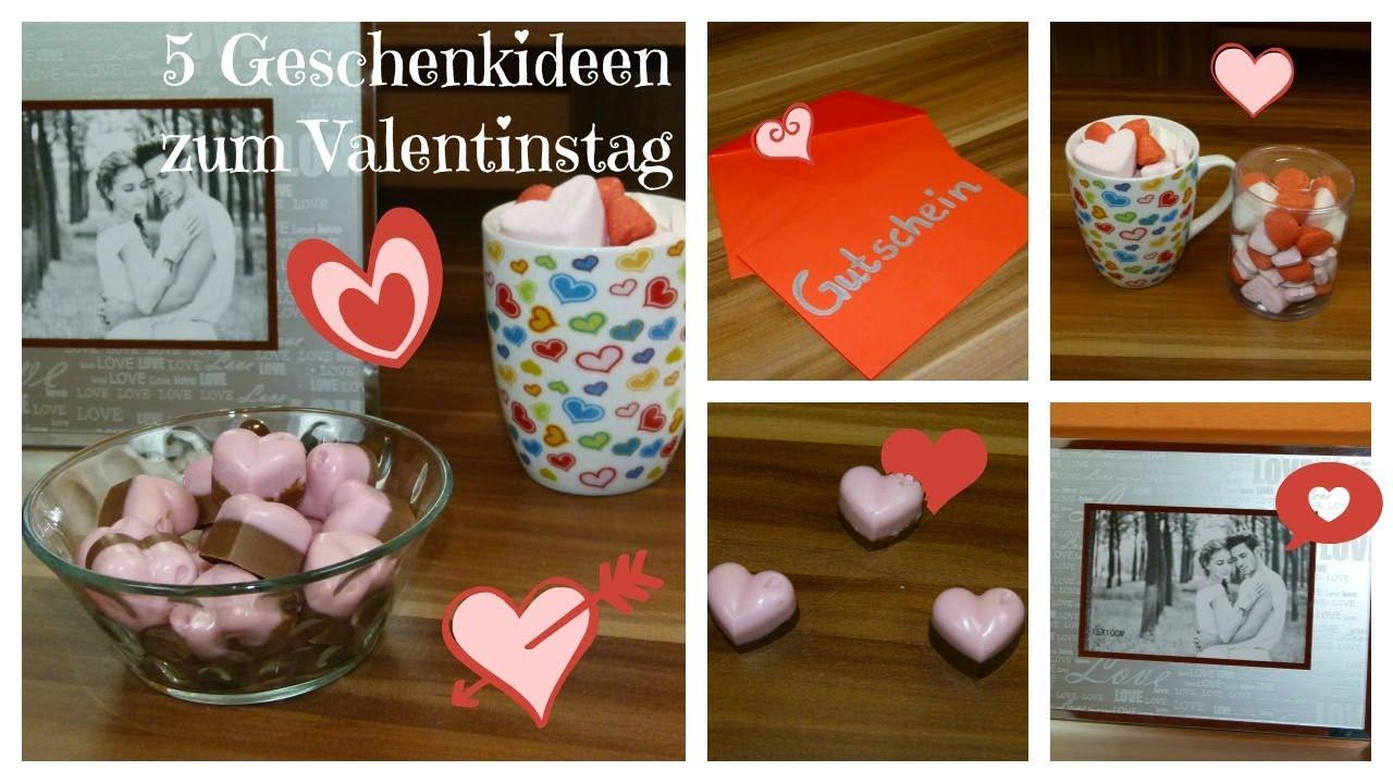 Valentinstag Geschenk Diy  Valentinstag ♥ 5 Geschenkideen DIY