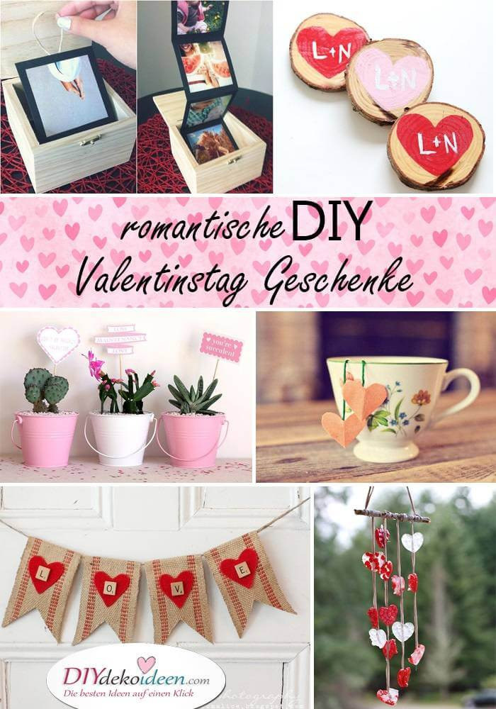 Valentinstag Geschenke Für Freundin  Romantische DIY Valentinstag Geschenke Mit Liebe gemacht