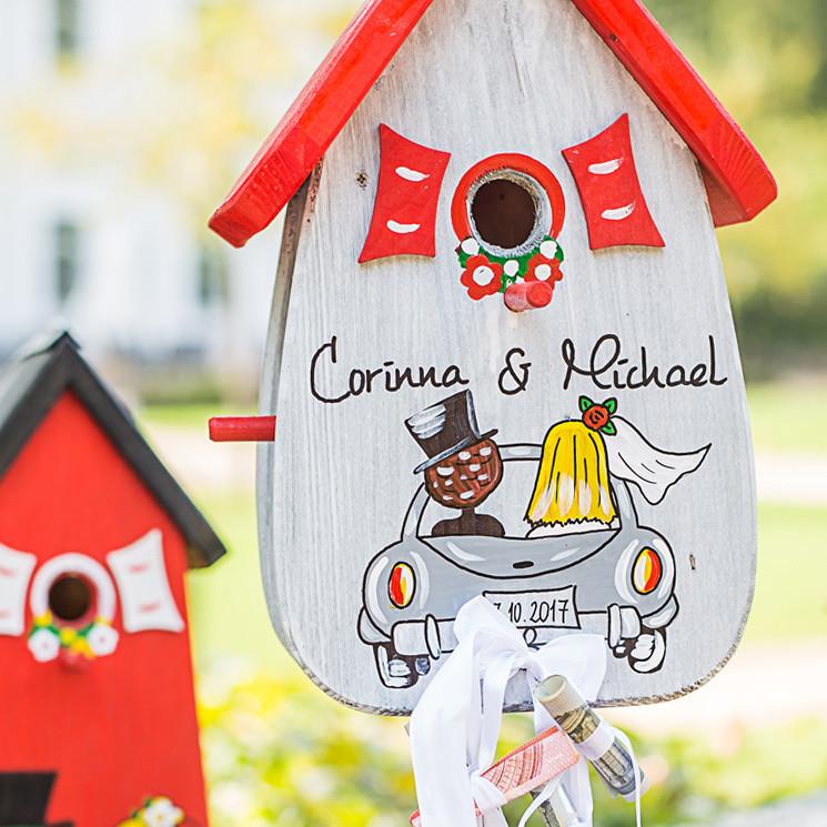 Vogelhaus Hochzeit  Nistkästen & Vogelhäuser Vogelhaus Hochzeit