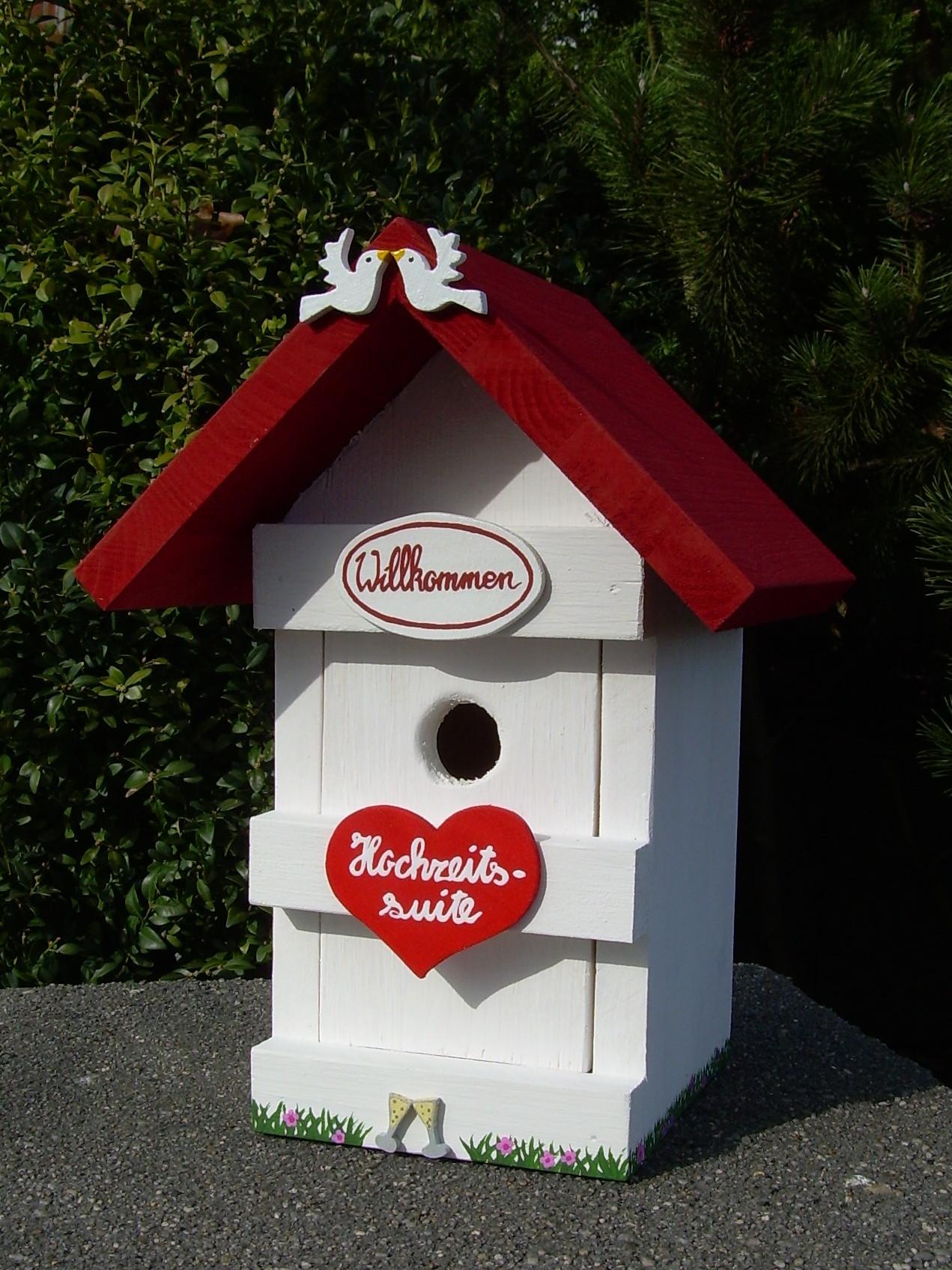 """Vogelhaus Hochzeit  Vogelhaus """"Hochzeitssuite"""" Dekorationen Geschenke"""