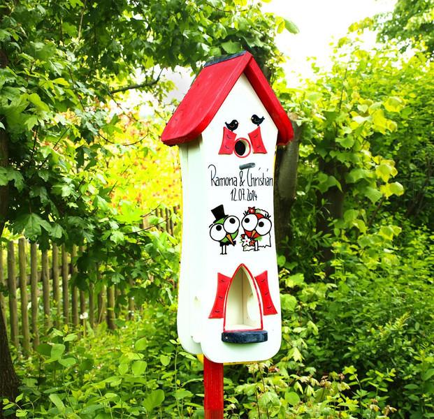 Vogelhaus Hochzeit  Nistkästen & Vogelhäuser Vogelhaus Hochzeit Hochzeit