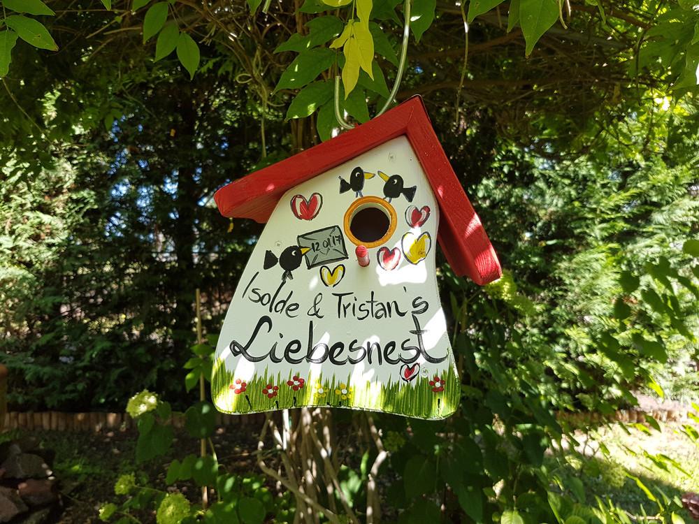Vogelhaus Hochzeit  Weiteres Vogelhaus Hochzeit Vogelvilla ein