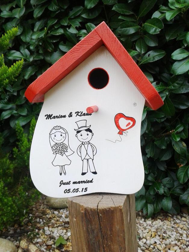 Vogelhaus Hochzeit  Gastgeschenke Hochzeit Vogelhaus Gästebuch Nistkasten