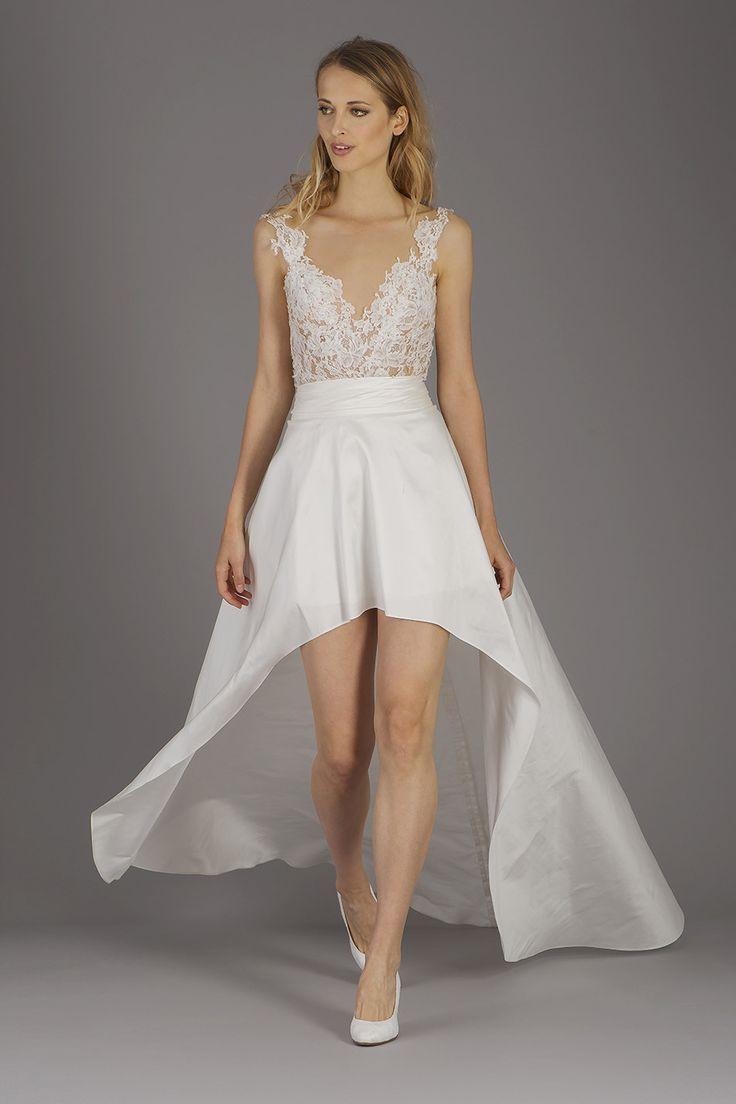 Vokuhila Hochzeitskleid  32 besten Vokuhila Brautkleider Bilder auf Pinterest
