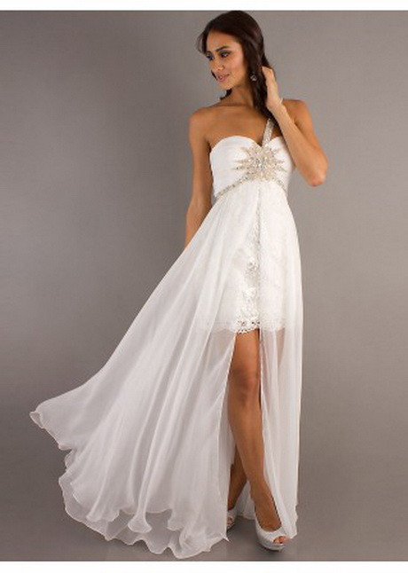 Vokuhila Hochzeitskleid  Brautkleid vorn kurz hinten lang