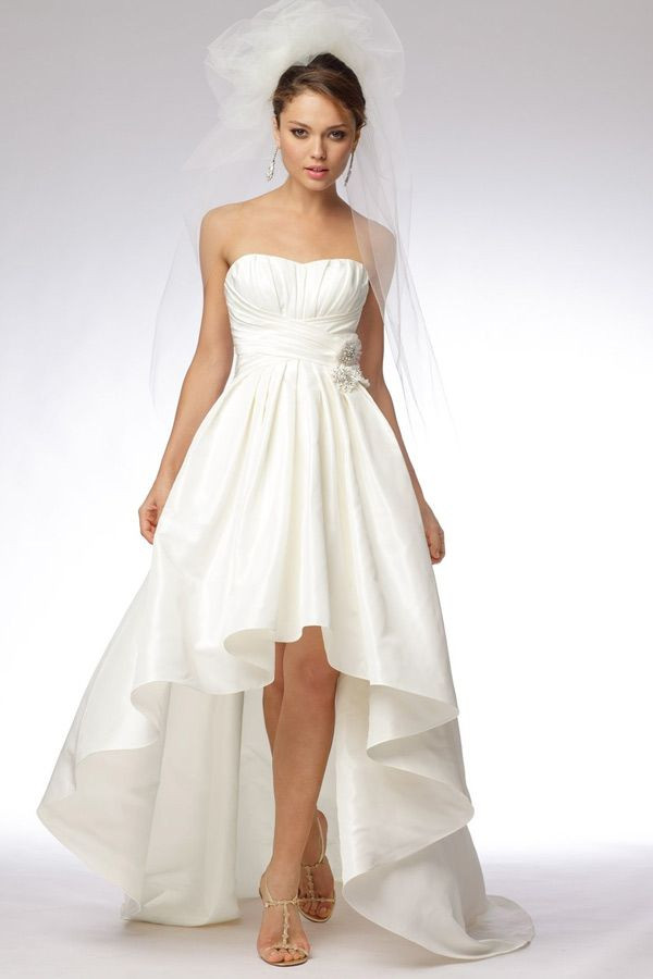 Vokuhila Hochzeitskleid  Die 28 besten Bilder zu Kleid Standesamt auf Pinterest