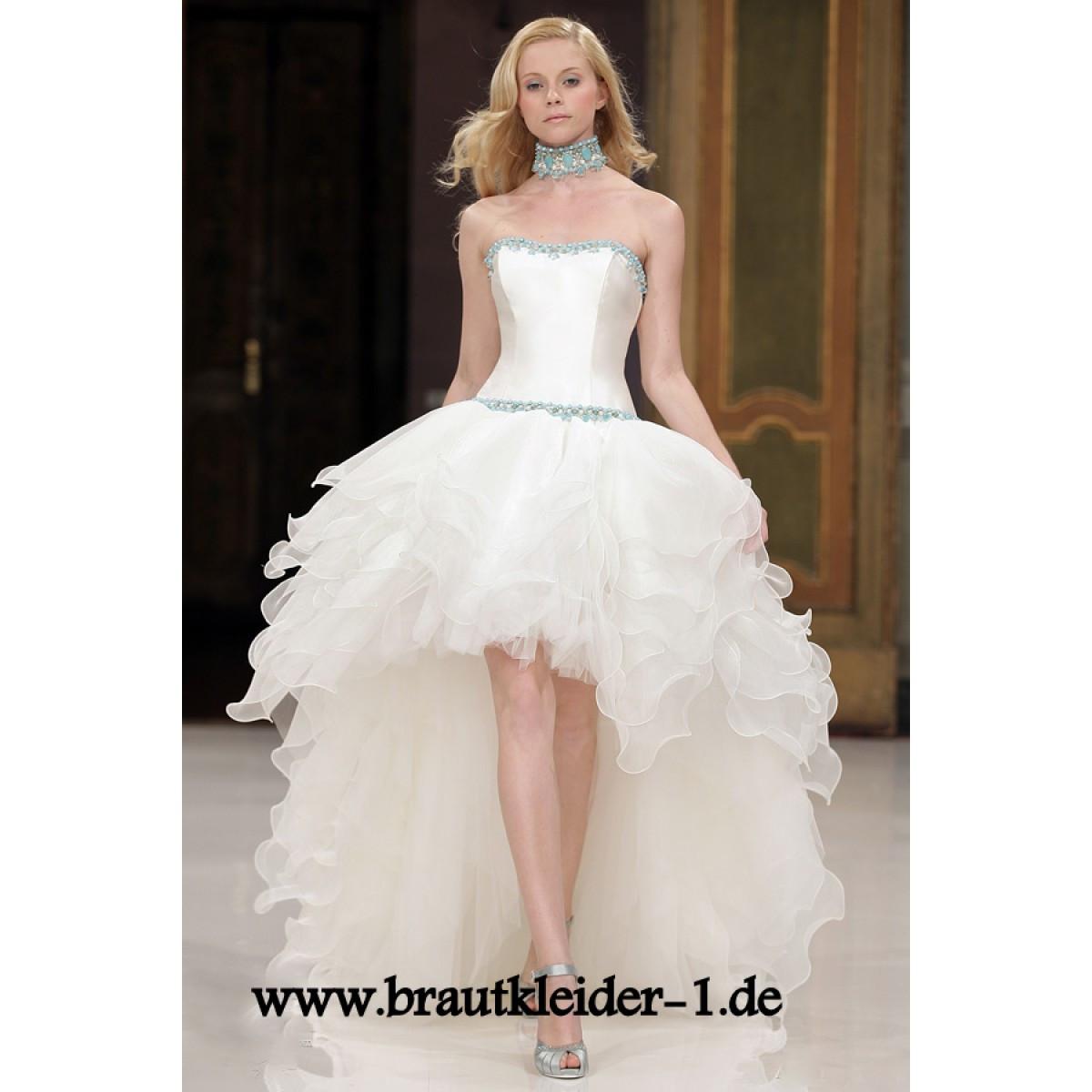 Vokuhila Hochzeitskleid  Vokuhila Brautkleider auf Rechnung Vokuhila Brautkleider