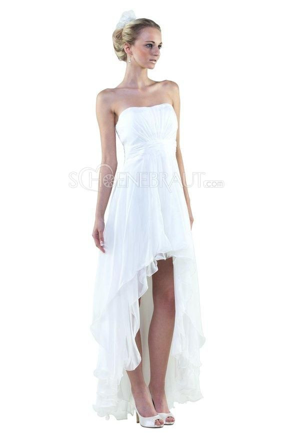 Vokuhila Hochzeitskleid  Die besten 25 Hochzeitskleid vorne kurz hinten lang Ideen