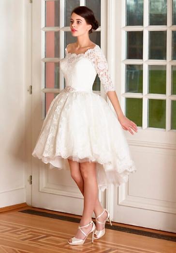 Vokuhila Hochzeitskleid  Vokuhila Brautkleider ein absoluter Trend und Hingucker