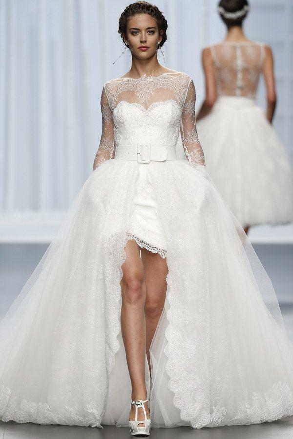 Vokuhila Hochzeitskleid  Brautkleider Trends 2016 miss solution Hochzeitsblog