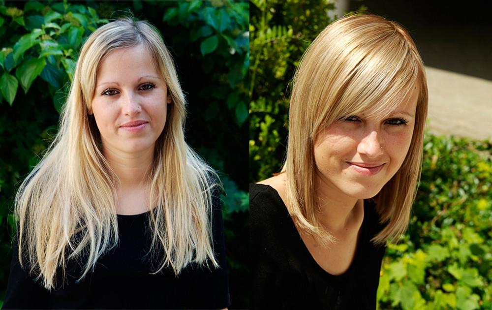 Vorher Nachher Frisuren  Kurze Haare Vorher Nachher