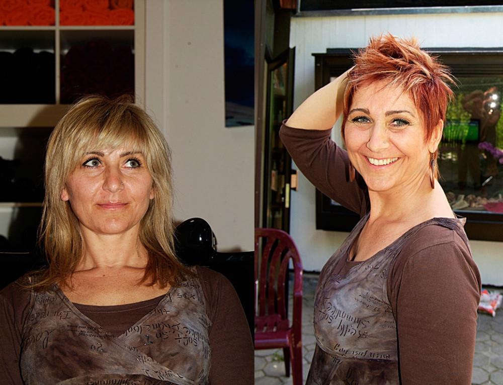Vorher Nachher Frisuren  Frisuren Vorher Nachher Fotos