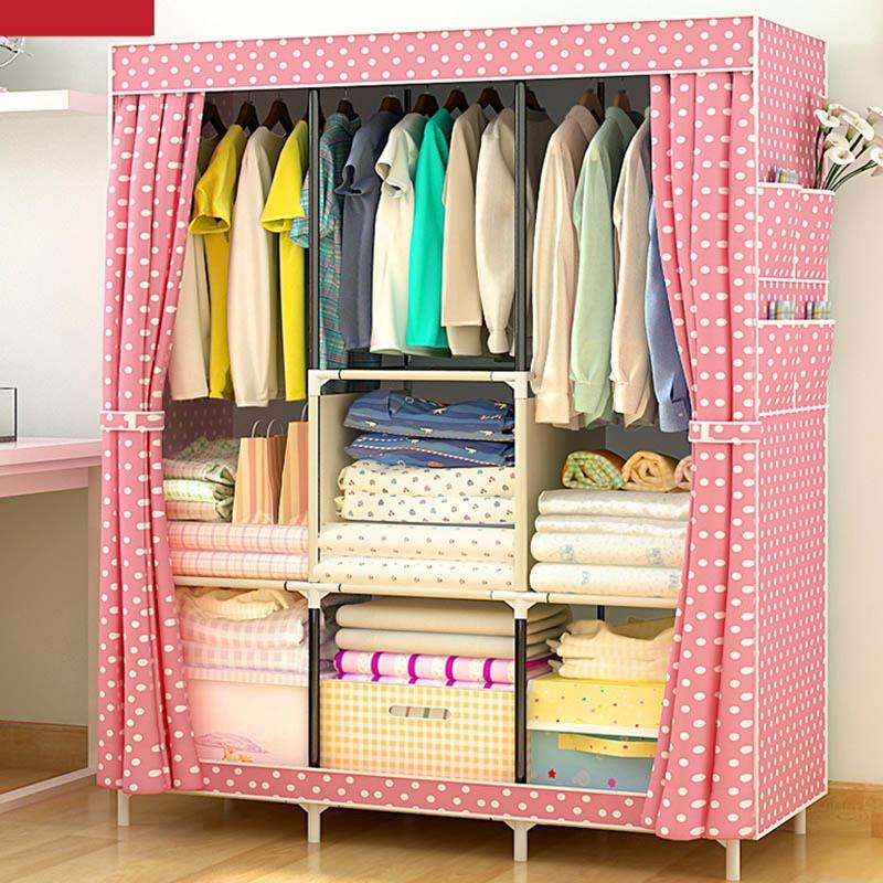 Wardrobe Diy  Hot Furniture Wardrobe Closet Home Storage Closet Wardrobe