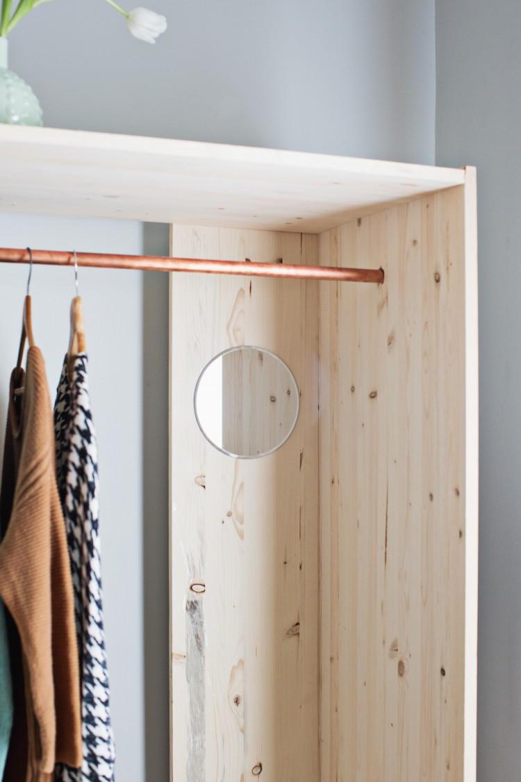 Wardrobe Diy  DIY Modern Wooden Wardrobe With Copper Details Shelterness