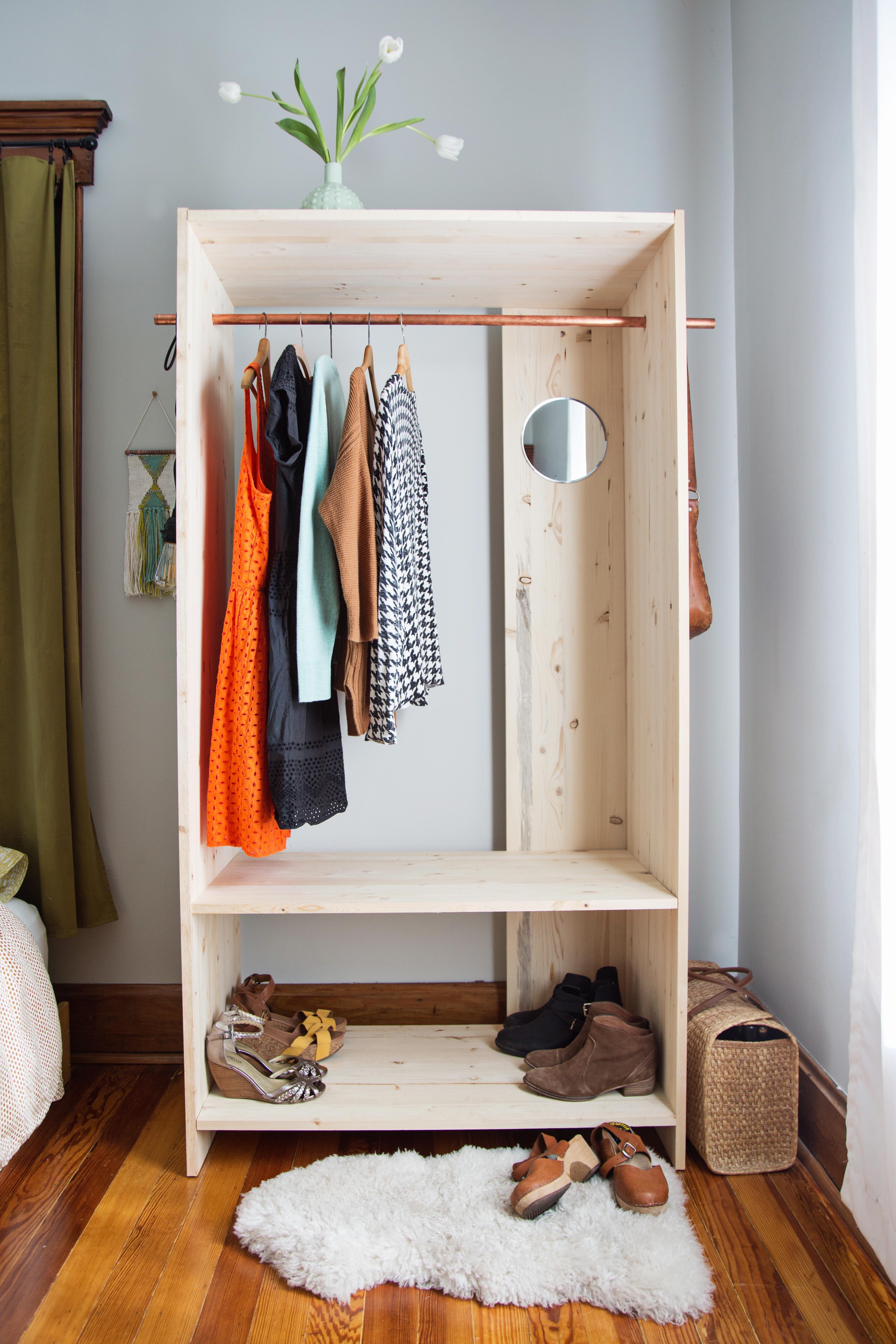 Wardrobe Diy  Modern Wooden Wardrobe DIY A Beautiful Mess