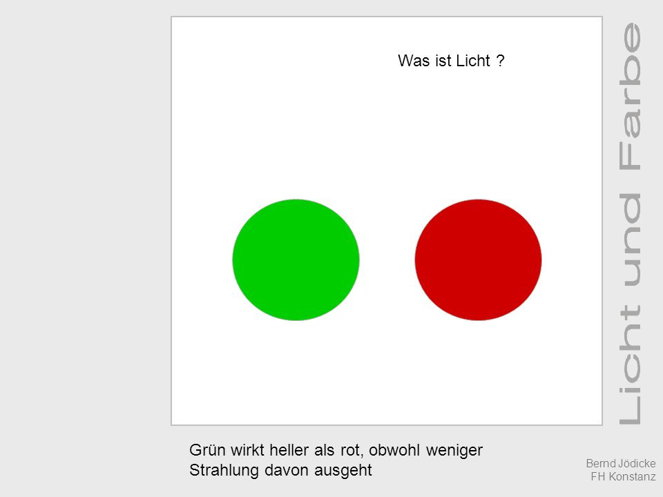 Was Ist Licht  Licht und Farbe Prof Dr Bernd Jödicke was ist Licht