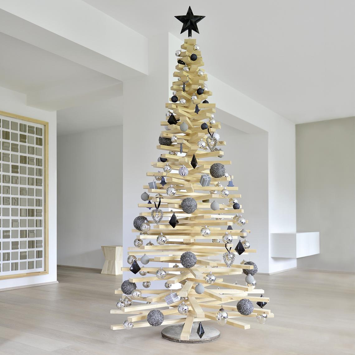 Weihnachtsbaum Diy  DIY Weihnachtsbaum aus Holzlatten