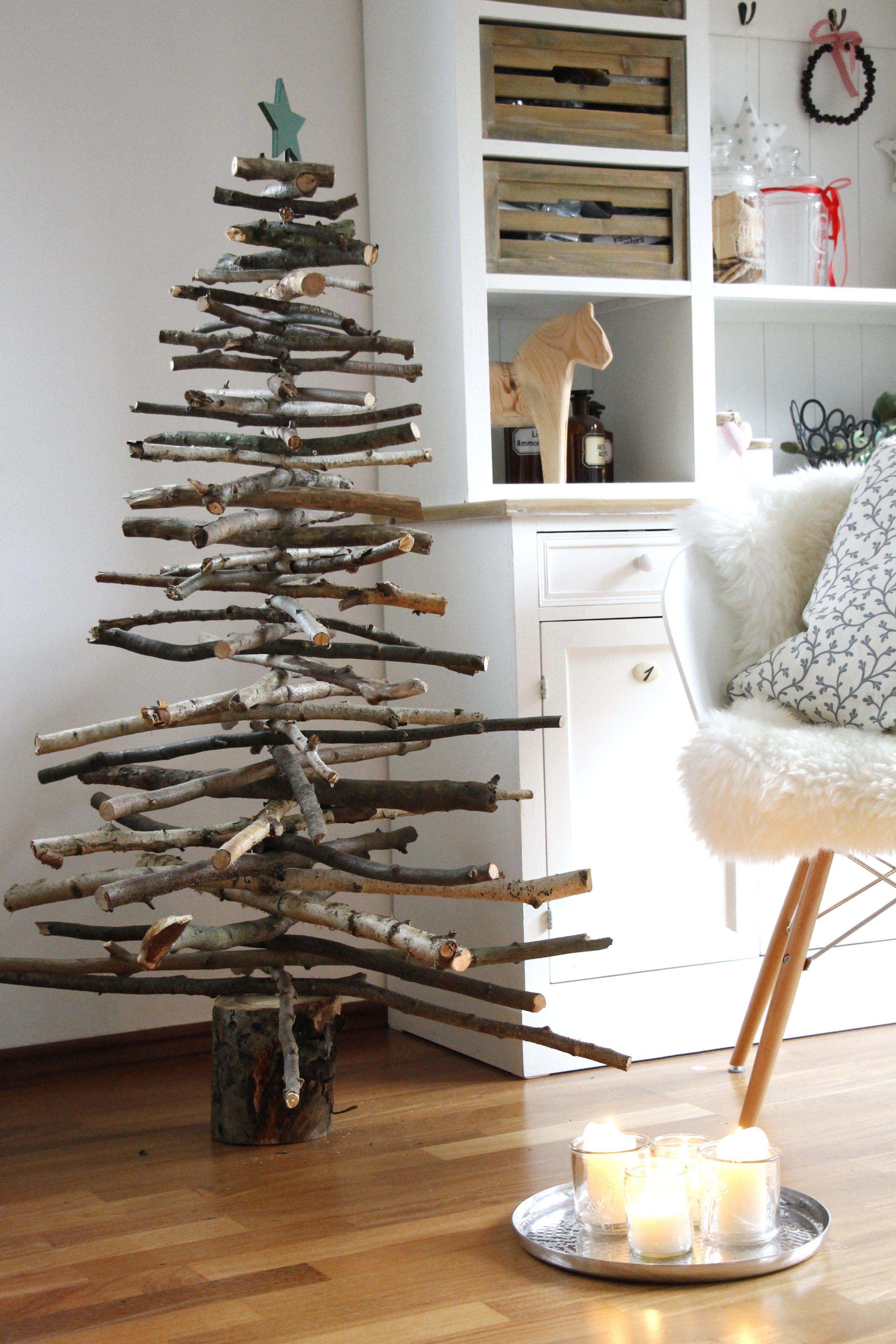 Weihnachtsbaum Diy  Holz Weihnachtsbaum DIY Lavendelblog
