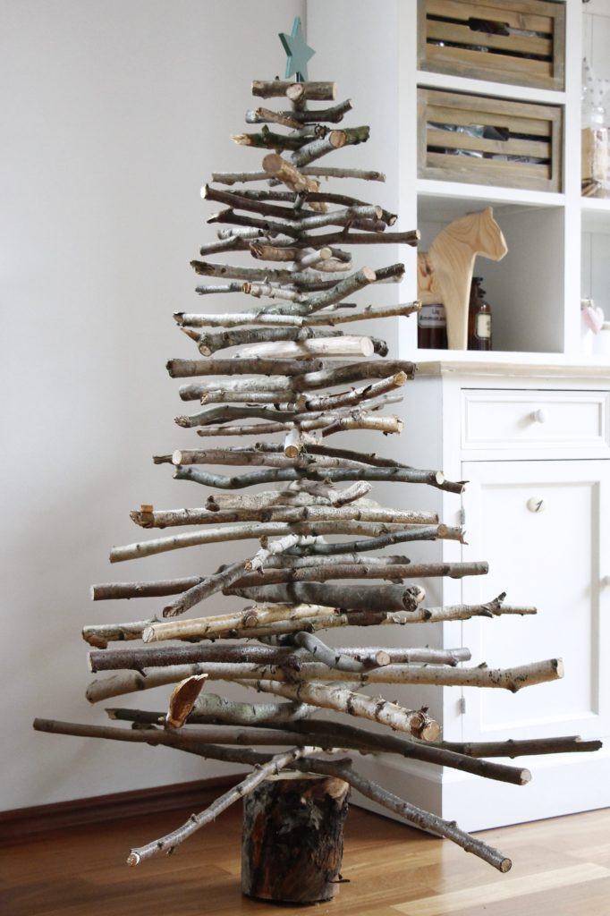 Weihnachtsbaum Diy  Weihnachtliche DIY Idee Weihnachtsbaum aus Holz bauen