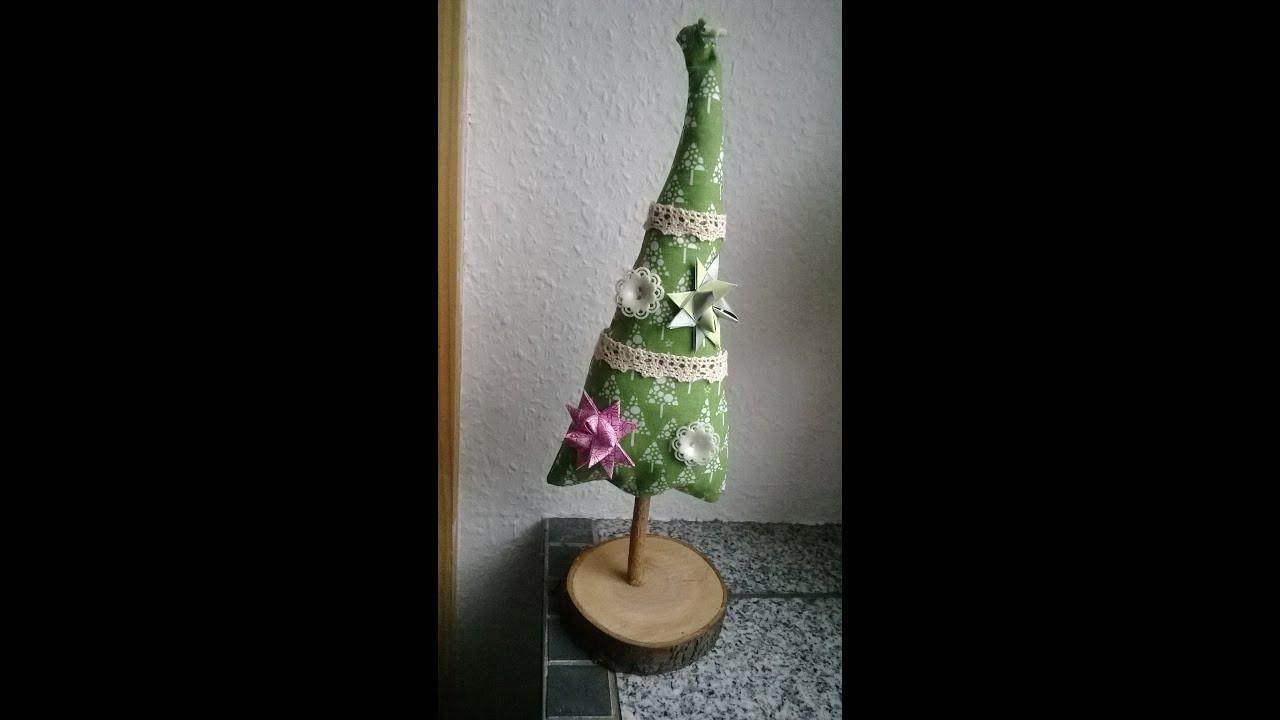 Weihnachtsbaum Diy  Weihnachtsbaum Näh Anleitung Dekobaum DIY