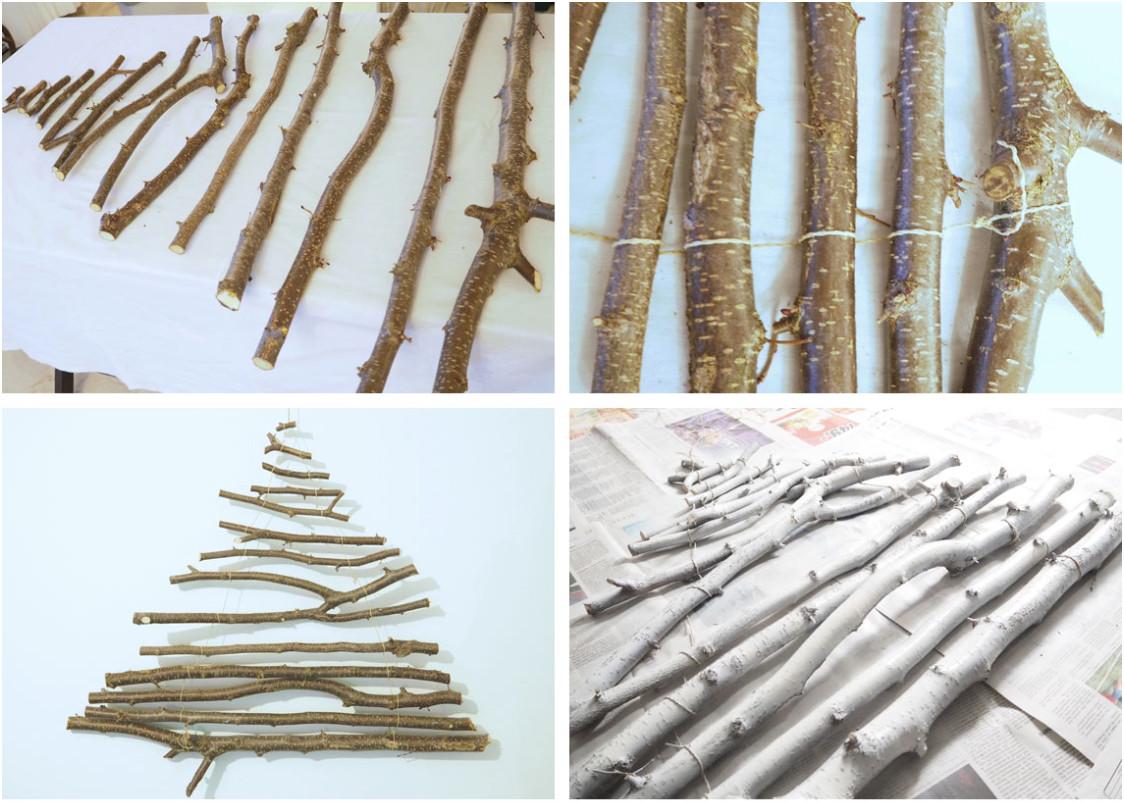 Weihnachtsbaum Diy  DIY Weihnachtsbaum aus Ästen Maison Pazi