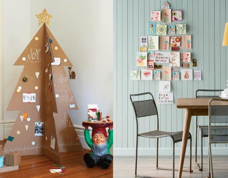 Weihnachtsbaum Diy  Weihnachtsbaum basteln für Kinder 13 DIY Alternativen