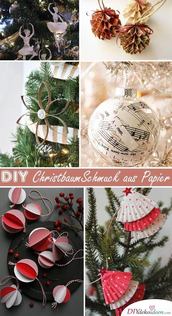 Weihnachtsbaum Diy  Wundervolle DIY Weihnachtsbaum Schmuck Ideen aus Papier