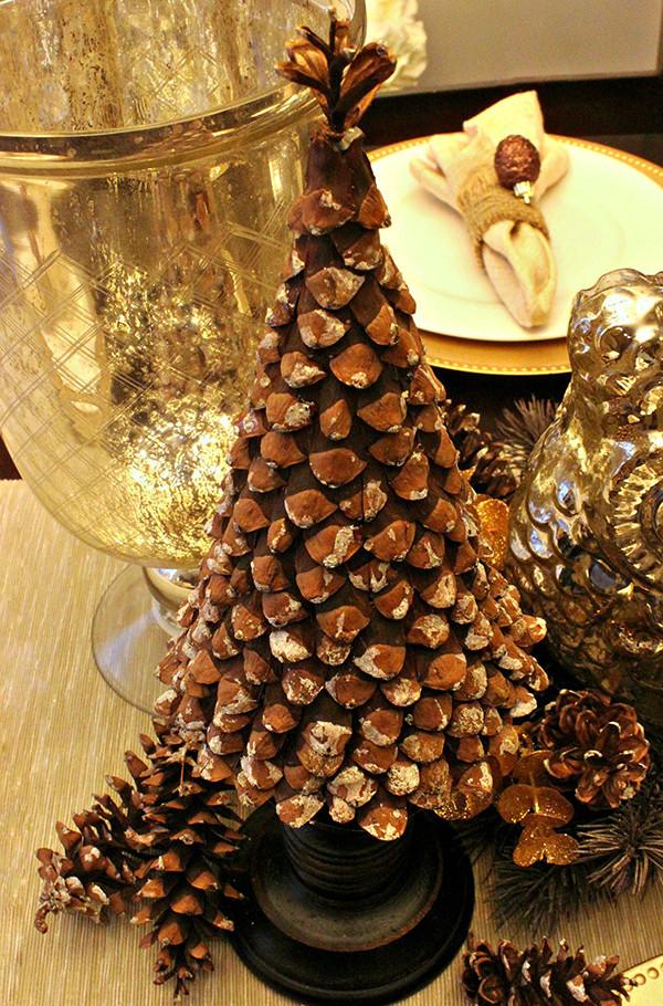 Weihnachtsbaum Diy  weihnachtlich dekorieren mit diy weihnachtsbaum aus zapfen