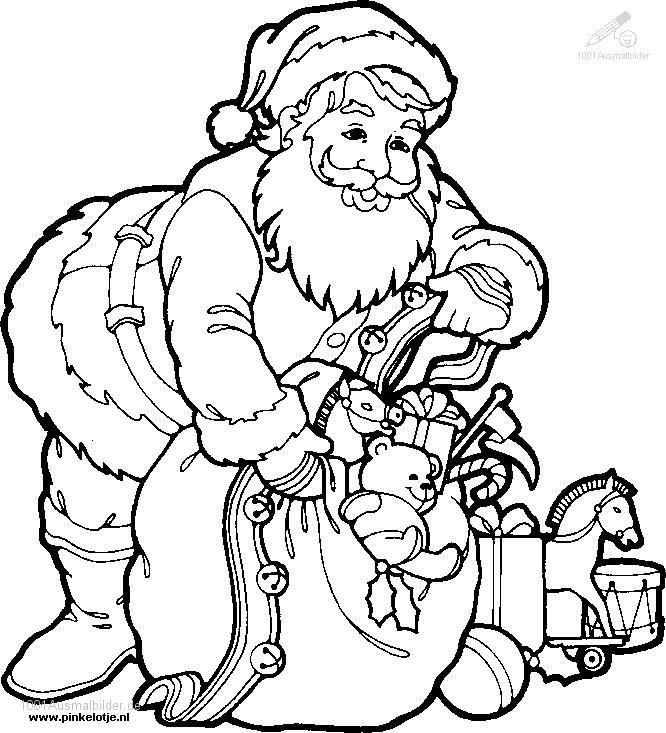 Die 20 Besten Ideen Für Weihnachtsmann Ausmalbilder Beste