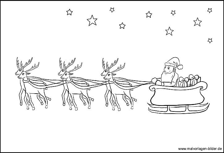 beste 20 weihnachtsmann mit schlitten ausmalbilder  beste