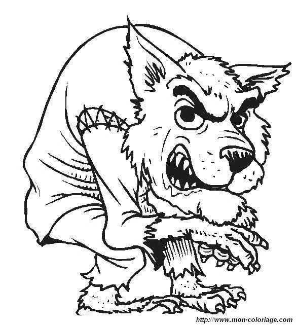 Werwolf Ausmalbilder  Ausmalbilder Monster und Menschenfresser bild monstern