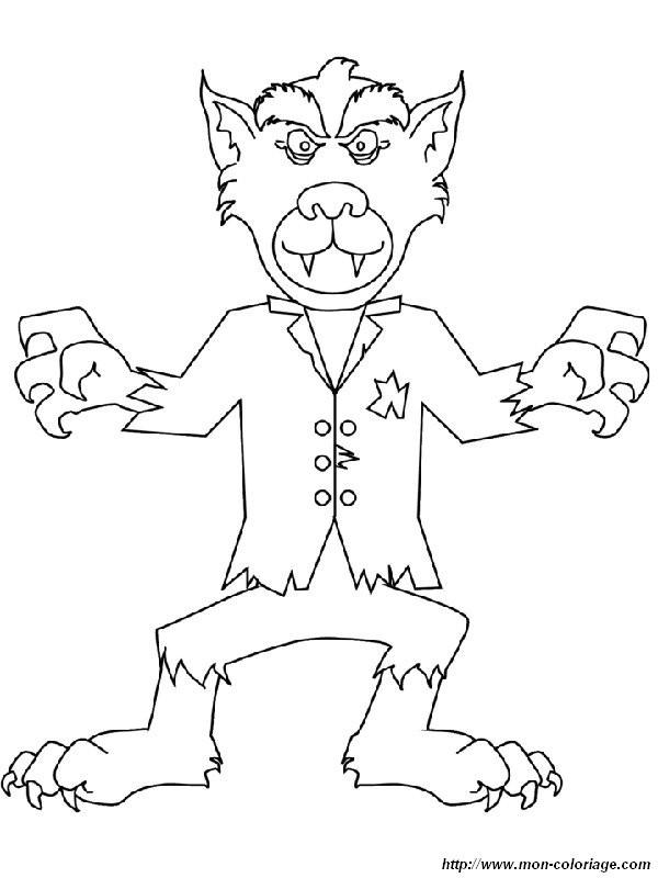 Werwolf Ausmalbilder  Coloriage de Monstres et ogres dessin Attention au loup