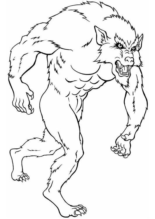 Werwolf Ausmalbilder  Coloriage loup garou img 8832