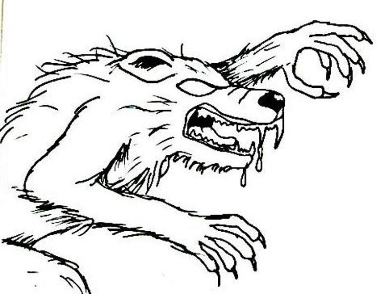 Werwolf Ausmalbilder  Ausmalbilder halloween kostenlos Malvorlagen zum