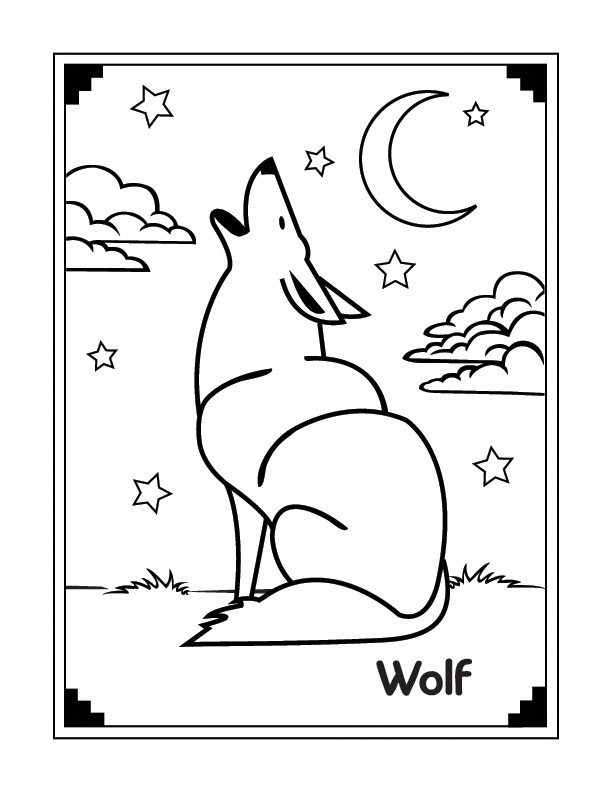 Werwolf Ausmalbilder  Malvorlagen fur kinder Ausmalbilder Wolf kostenlos