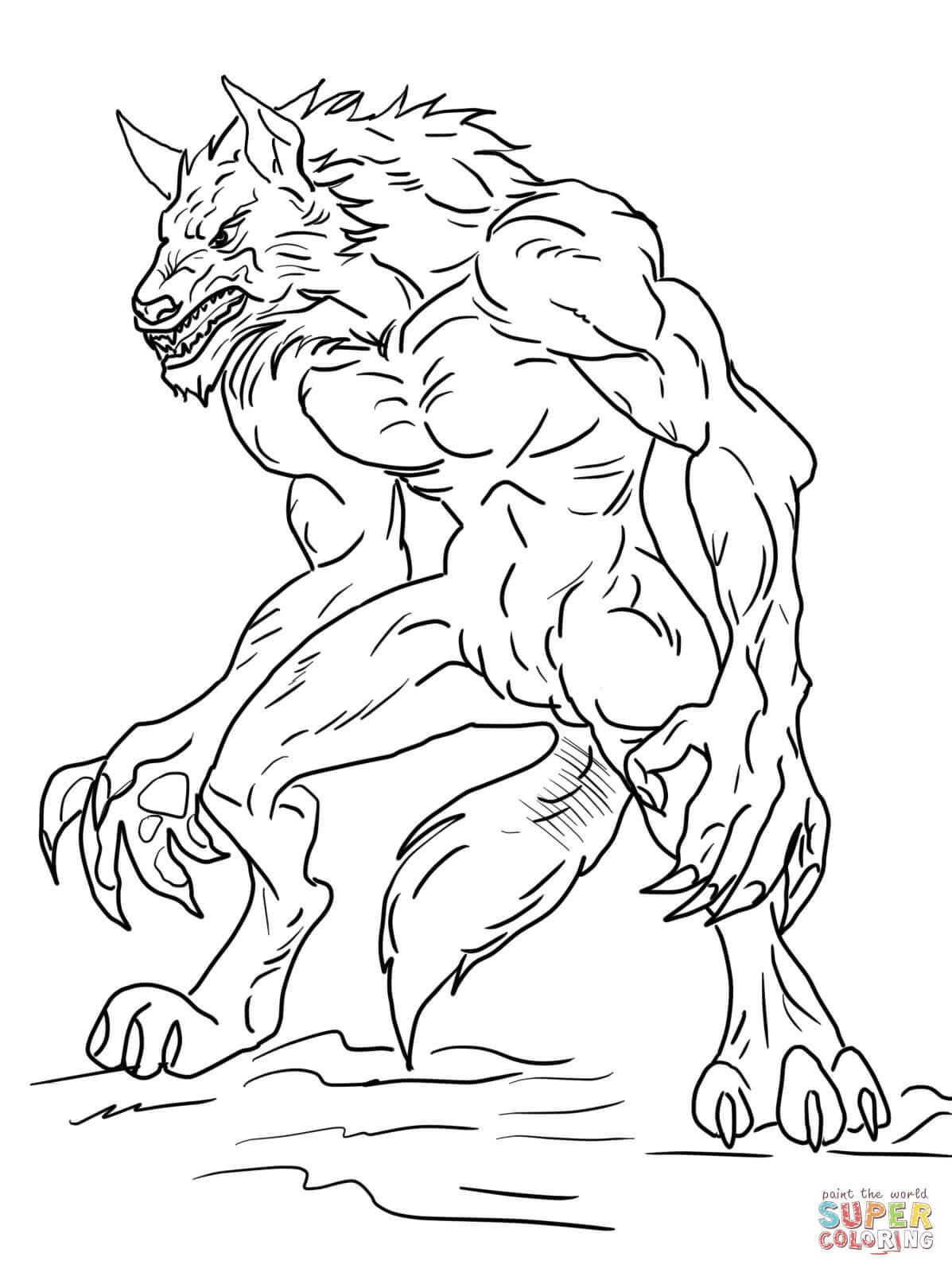 Werwolf Ausmalbilder  Ausmalbild Ben 10 Werwolf