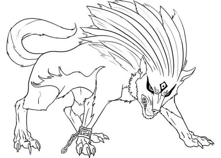 Werwolf Ausmalbilder  Ausmalbilder für Kinder Wolf 8