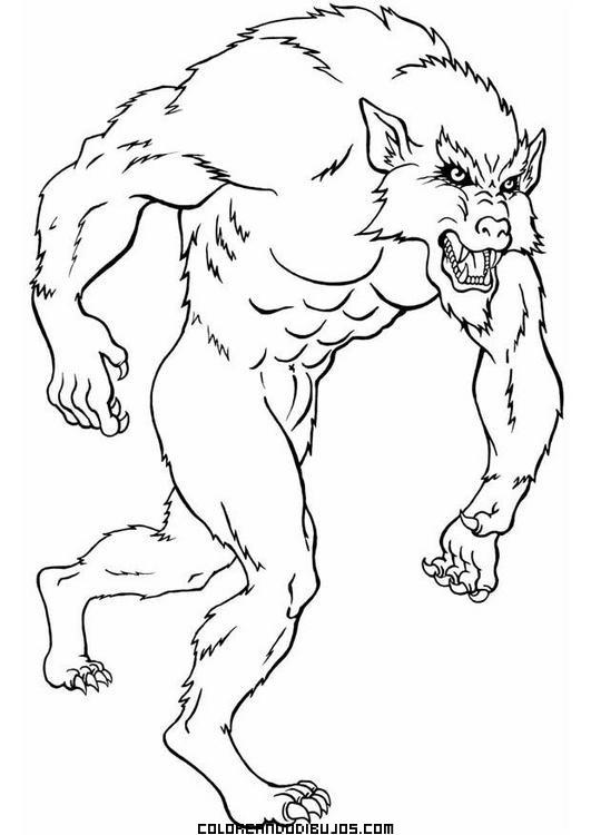 Werwolf Ausmalbilder  Hombre lobo para colorear